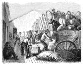 Loading Wagons — Stock Photo