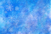 Blue winter background with snowflakes — Photo