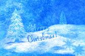 Синяя Рождественская открытка — Стоковое фото
