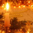 Foto Stock: Christmas card with candlelight