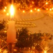 Foto de Stock  : Christmas card with candlelight