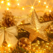 Golden Christmas decoration — Stock Photo #4447081