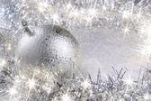 銀のクリスマス カード — ストック写真
