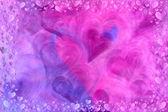 Färgglada hjärtan bakgrund — Stockfoto