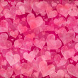 Pink hearts background — Foto de Stock