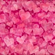 Pink hearts background — ストック写真