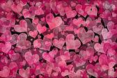 Fundo de corações — Foto Stock