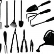 Stock Vector: Gardener tools collection