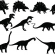 Dinosaurs silhouette collection - Image vectorielle