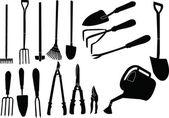 Gardener tools collection — Stock Vector