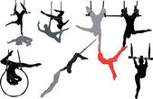 Trapeze artists collection — Stock Vector