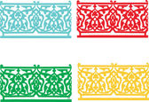 Four colored ornament — Stock Vector