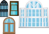 Window collection — Stock Vector
