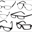 Stock Vector: Glasses collection