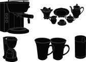 咖啡的小玩艺儿 — 图库矢量图片
