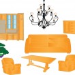 Royalty-Free Stock Vector Image: Living room set
