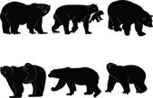 Polar bears collection — Stock Vector