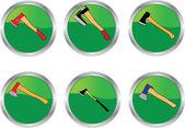 Buttons axes collection — Stock Vector