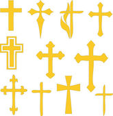 Christian crosses collection — Stock Vector