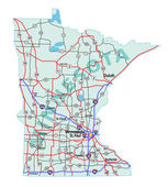 Minnesota State Interstate Map — Stock Photo