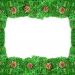 Royalty-Free Stock Photo: Pine branch christmas frame with copy space