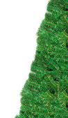 Pine branch christmas frame with copy space — Stock Photo