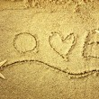 Stock Photo: Love in sand