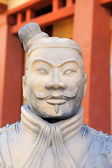 Terracotta army figure in china — Stock Photo