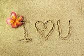 Love in the sand — Stockfoto