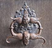 Medieval door knocker — Stock Photo