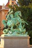 Saint Georges tuant le dragon — Photo