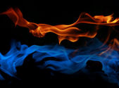 Fire and ice fusion — Stock Photo