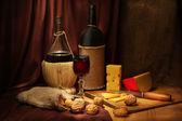 Wine and cheese — Stock Photo