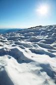 Sol e neve — Fotografia Stock