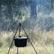 Stock Photo: Kettle on picnic