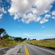 Road in blue — Stock Photo