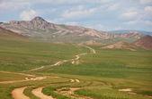 Prairie in Mongolia — Стоковое фото