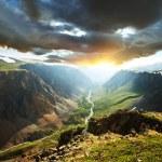 Mountains on sunset — Stock Photo