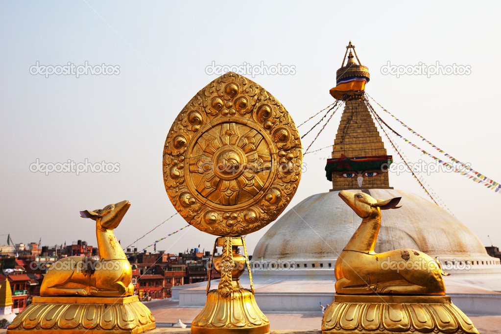 Boudhanath Stupa in Kathmandu, Nepal   Stock Photo #4478645