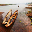 Stock Photo: Canoe in Chitwan, Nepal