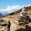 Stupa in mountains — Stock Photo