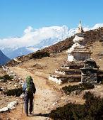 Stupa in mountains — Stock Photo