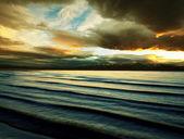 Lake on sunset — Stock Photo