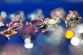 Jewels on blur background — Stock Photo