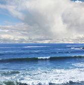 океан в день облака — Стоковое фото