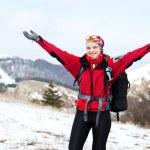 Girl in hike — Stock Photo