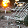 Stock Photo: Chair in garden