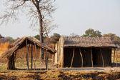 Africká vesnice — Stock fotografie