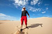 Caminhada no deserto — Foto Stock