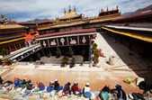 Klášter v tibetu — Stock fotografie